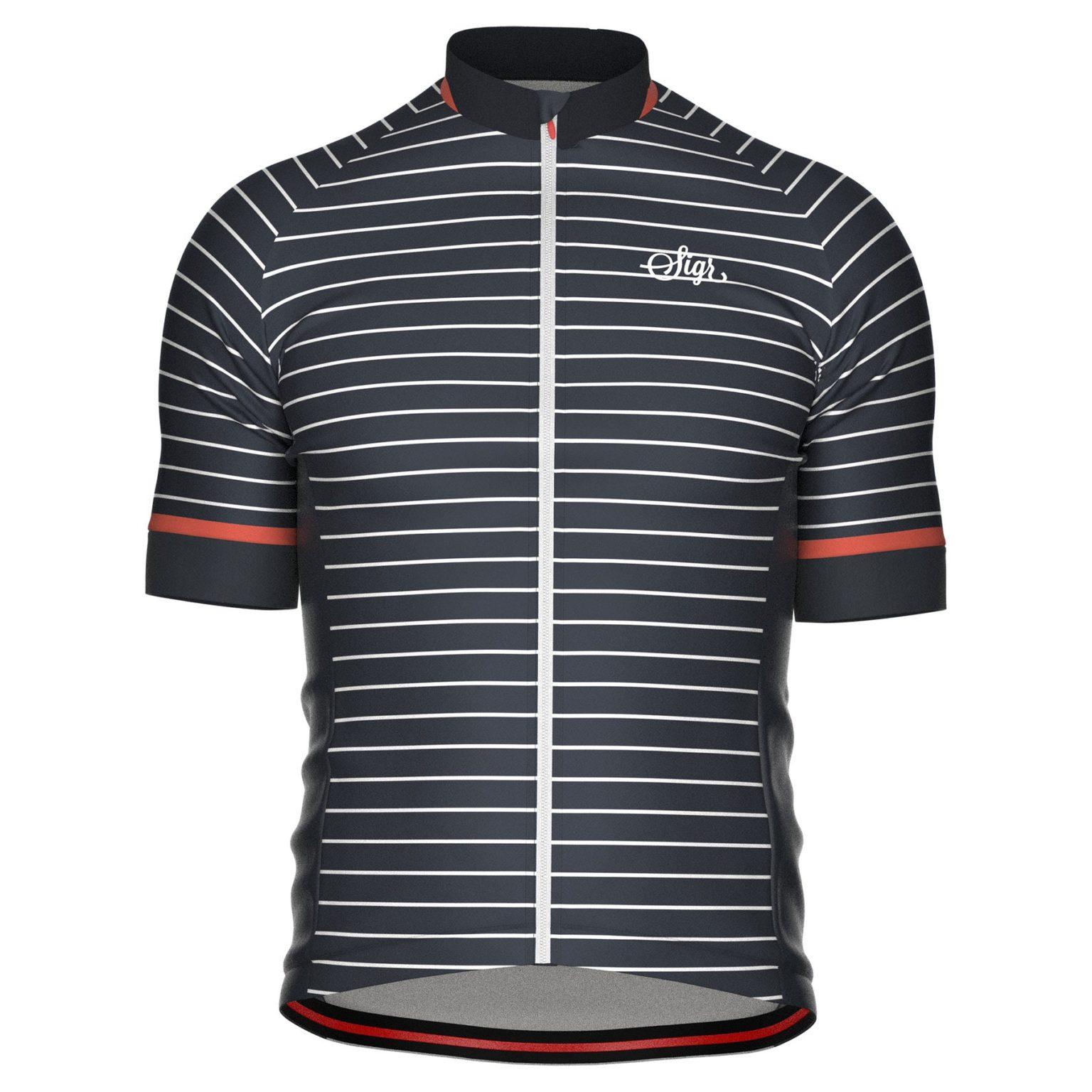 Sigr Black Horizon Cycling Jersey for Men Front 1800x1800