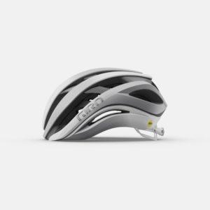 giro aether spherical road helmet matte white silver left