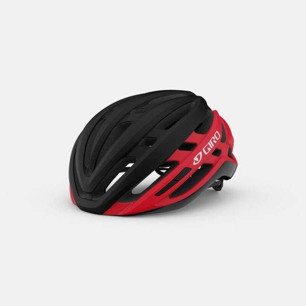 giro agilis mips road helmet matte black bright red hero