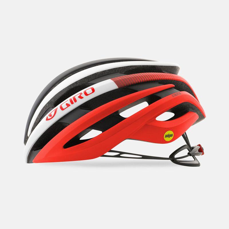 giro cinder mips road helmet matte red side