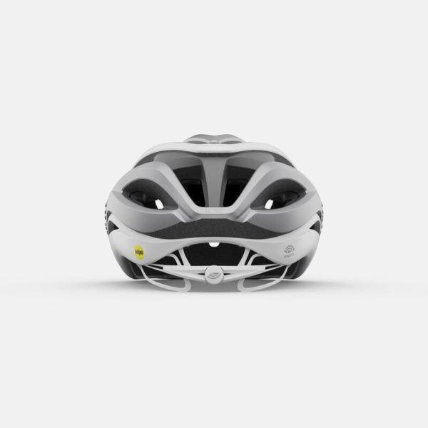 giro aether spherical road helmet matte white silver back