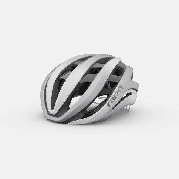 giro aether spherical road helmet matte white silver hero
