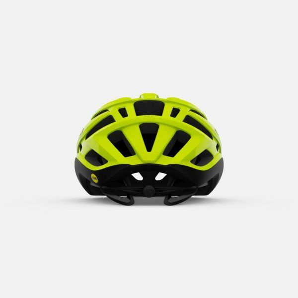 giro agilis mips road helmet highlight yellow back