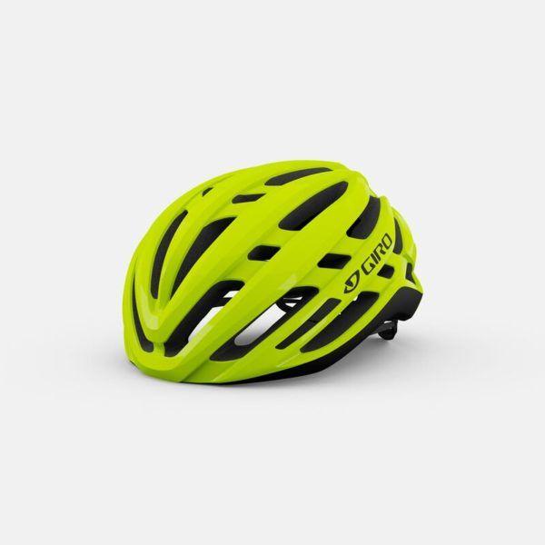 giro agilis mips road helmet highlight yellow hero