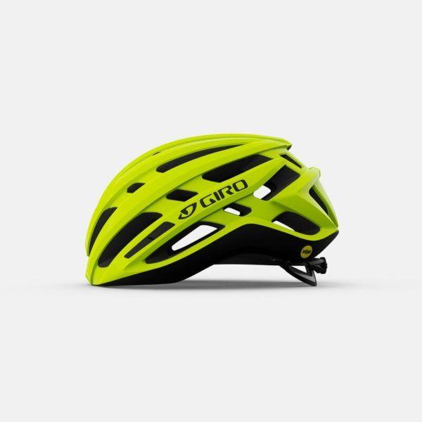 giro agilis mips road helmet highlight yellow left