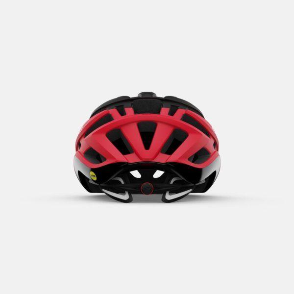 giro agilis mips road helmet matte black bright red back