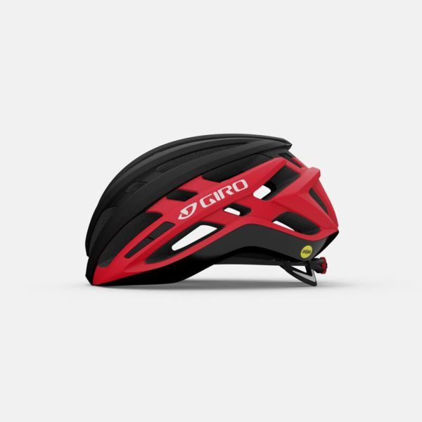 giro agilis mips road helmet matte black bright red left